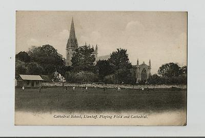 Postcard Cathedral School Llandaff Playing Feild And Larg Picture