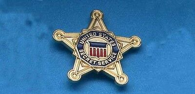 Secret Service Star Gold Star 3/4 Inch Lapel Pin