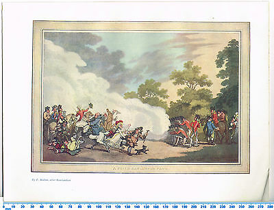 A Field Day In Hyde Park Antique Military Picture Print