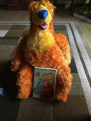 """Seated Bear in the Big Blue House Plush 20"""" Large Plush by Nanco Used With DVD"""