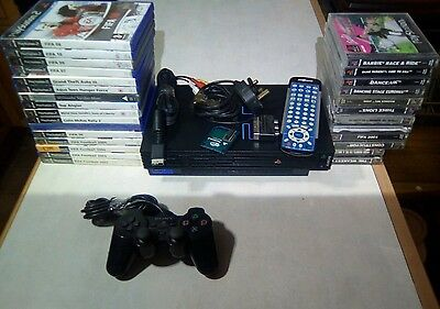 Sony PlayStation 2 Black Console with 27 game's (SCPH-30003)