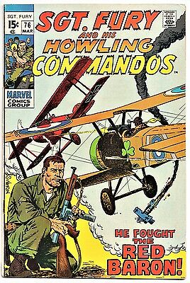 MARVEL COMIC Sgt Fury and His Howling Commandos (1963- 1981)   # 76  Fine +
