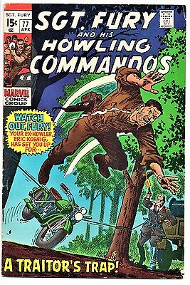 MARVEL COMIC Sgt Fury and His Howling Commandos (1963- 1981)   # 77  Fine