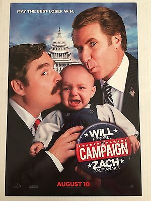 THE CAMPAIGN 11x17 Original Promo Movie Poster MINT WILL FERRELL GALIFIANAKIS B