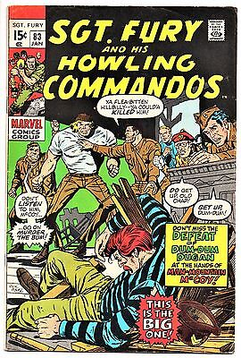 MARVEL COMIC Sgt Fury and His Howling Commandos (1963- 1981)   # 83  Fine