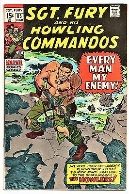 MARVEL COMIC Sgt Fury and His Howling Commandos (1963- 1981)   # 85  Fine +