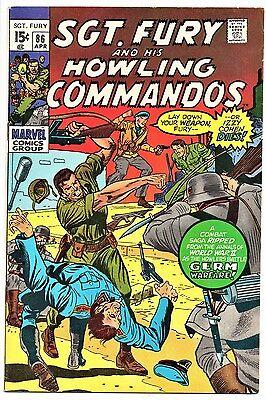 MARVEL COMIC Sgt Fury and His Howling Commandos (1963- 1981)   # 86 Very Fine