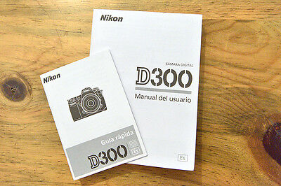 Nikon D810 Camera User's (Owner's) Manual, & Quick Start Guide, in SPANISH - New