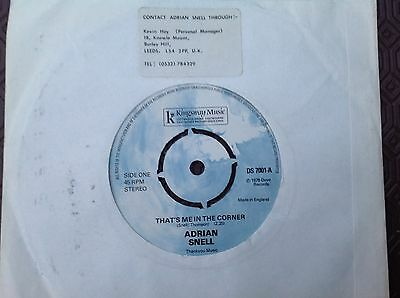 ADRIAN SNELL 'That's Me In The Corner/Listen To The Peace ' Kingsway Music 45