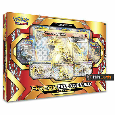 Pokemon: Arcanine Break Evolution Collection Box - Booster Packs + Promo Cards