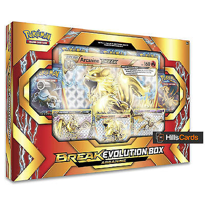 Pokemon Arcanine Break Evolution Collection Box - Booster Packs + Promo Cards