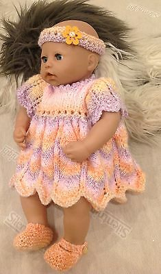 """Hand Knitted Dolls Clothes Fit Baby Annabell / Chou Chou 18"""""""