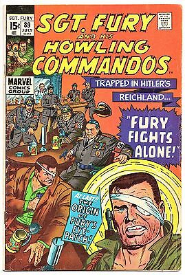 MARVEL COMIC Sgt Fury and His Howling Commandos (1963- 1981)   # 89  Fine