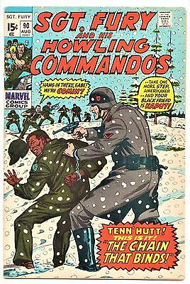 MARVEL COMIC Sgt Fury and His Howling Commandos (1963- 1981)   # 90  Fine +