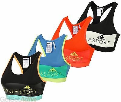 adidas Womens Ladies Stella McCartney STELLASPORT Padded Sport Bra Sports Top