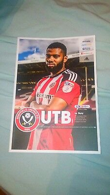 sheffield united v bury programme 2016