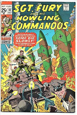 MARVEL COMIC Sgt Fury and His Howling Commandos (1963- 1981)   # 92  Fine -