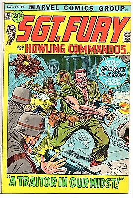 MARVEL COMIC Sgt Fury and His Howling Commandos (1963- 1981)   # 93  Fine -