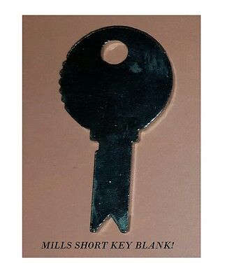 Mills Short Key Blank For An Antique Slot Machine Backdoor  Lock Mills Key Blank