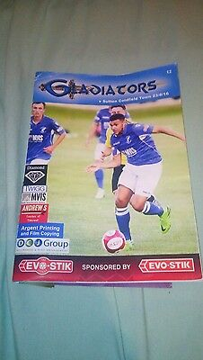 matlock town v sutton coldfield programme 2016
