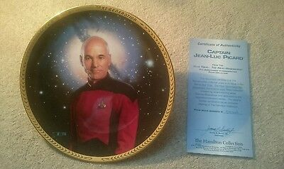 Captain Jean-Luc Picard Plate Star Trek The Next Generation Collection