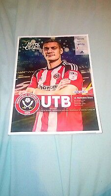 sheffield united v swindon town programme 2016