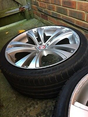 Alloy Wheels 4 with tyres 19 inch fit Jaguar
