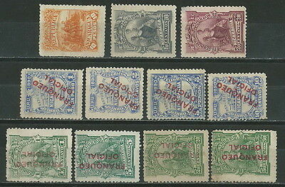 Nicaragua 1890-1892 (11) Eleven Different Old Stamps Lot Collection