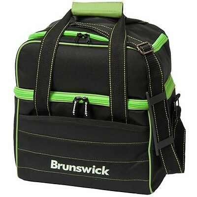 NEW Brunswick Kooler C Single Tote Bowling Bag, Black/Lime
