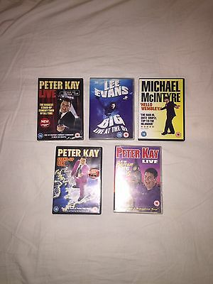 Stand Up - Comedy -  Peter Kay - Lee Evans -  Michael Mcintyre -  Dvd Bundle
