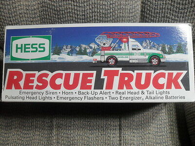 1994 HESS TOY RESCUE FIRE TRUCK with Extension Ladder - New in Original Box