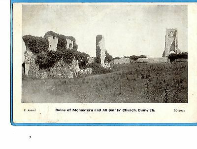 Dunwich  Suffolk-  Monastery Ruins And All Saints  Church- Publ Graphic Co- 1906