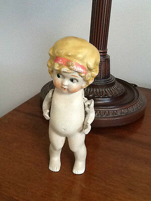 """Antique bisque kewpie doll moveable arms 6"""""""