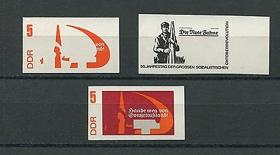 DDR PH 1312 OKTOBER-REVOLUTION 1967 3 PHASENDRUCKE PROOF IMPERF RARE!! p64