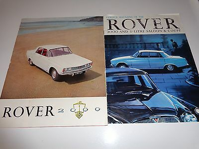 2 Rover Brochures     2000 and 2000 and 3-Litre Saloon and Coupe  Brochures