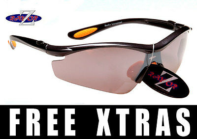Rayzor UV400 Ski Skiing Cycling Cricket Golf Sports Wrap Sunglasses RRP£49 (Y)