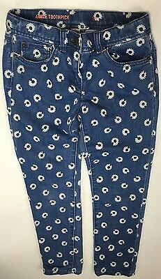 Crewcuts For J. Crew Ankle Toothpick Floral Denim Jeans Girls Size 10 LBFO
