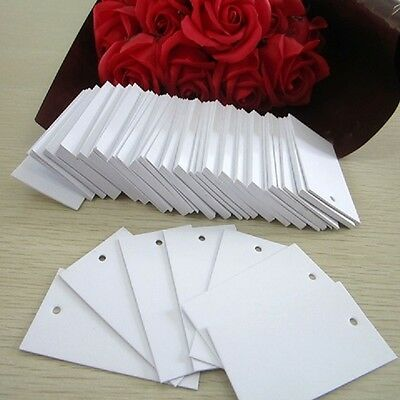 1150Pcs Plain White Clothes Price Tag 3.5X7cm