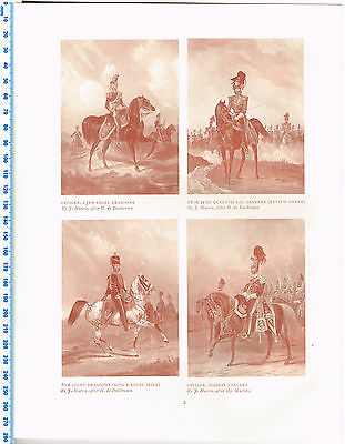Officers Of Light Dragoons & Bombay Lancers Antique Military Picture Print