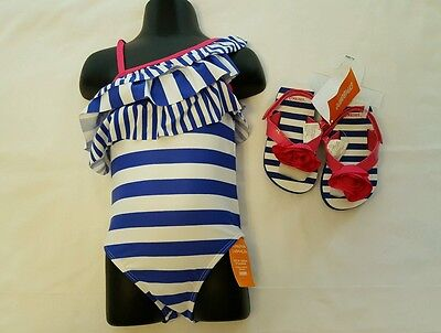 Gymboree Girls Bathing suit with sandals- 2T-NWT