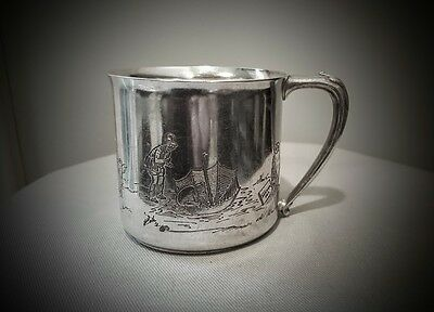 Rare 1930's Wonderful Winnie The Pooh Community Plate Silver Plate Baby Cup Mug