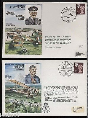 Trenchard And  Keith Park Two  Commemorative Covers 1978 Pm Cranwell Abington