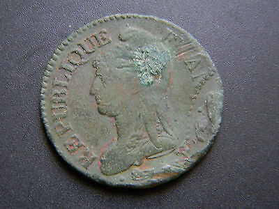 5 Centimes Dupre L'an 7 A French Bronze Coin