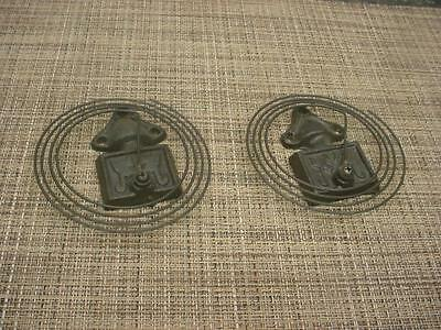 Lot 2 Mantle Clock  Coil Wire Vintage Replacement Coils and Gong Bases D566i