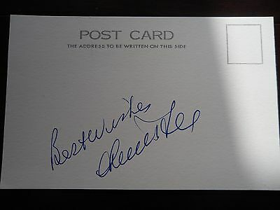 Hand Signed  Card - Francis Lee- Footballer - England, Man City, Derby, Bolton