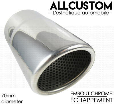 VW GOLF 6 7 EOS POLO PASSAT SCIROCCO TUBE EMBOUT CHROME SORTIE ECHAPPEMENT 70mm