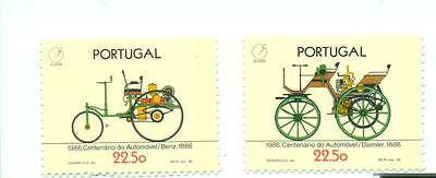 Autos: Complete Series Portugal (neu) MNH 1986