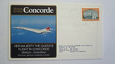 "Concorde Official British Airways Cover  ""her Majesty The Queen"""