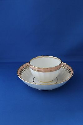 18th CENTURY ANTIQUE DERBY CUP/ BOWL AND SAUCER PUCE MARK ON BASE