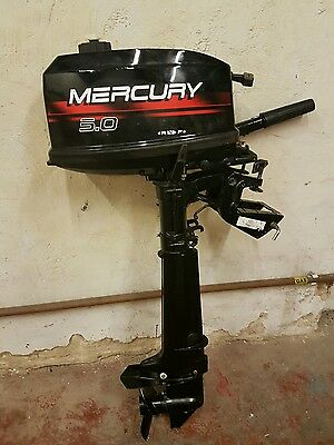 Mint Condition. Hardly Used. Mercury 5Hp 2 Stroke Long Shaft Outboard Engine